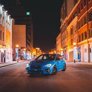 Preview wallpaper subaru, sports car, car, front view, headlight