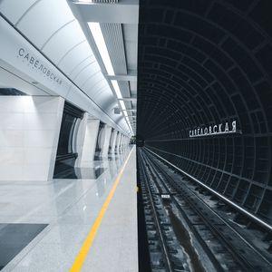 Preview wallpaper subway, station, tunnel, rails, underground