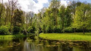 Preview wallpaper summer, river, nature, grass