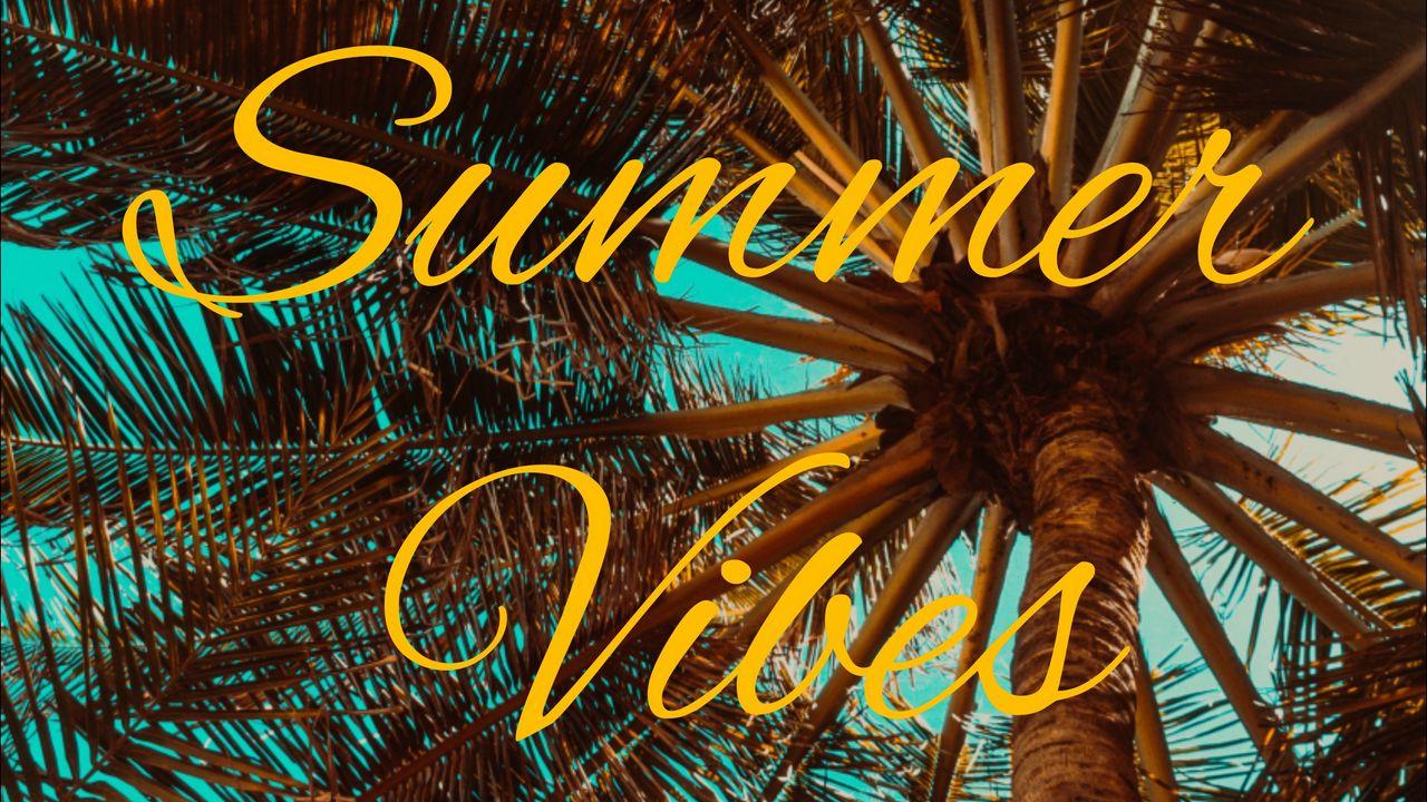 Wallpaper summer, vibes, palm, mood