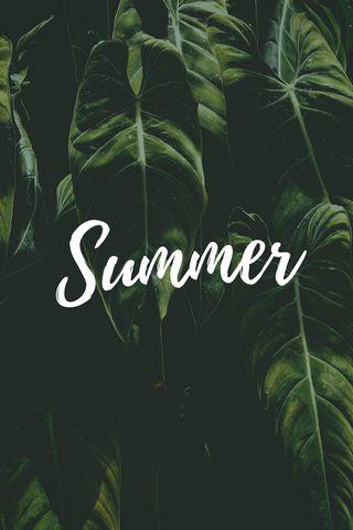 320x480 Wallpaper summer, word, inscription, text, leaves