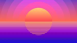 Preview wallpaper sun, art, geometric, lines, circles