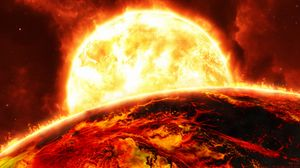 Preview wallpaper sun, planet, flame, fire, bright