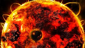 Preview wallpaper sun, star, flares, energy, planet