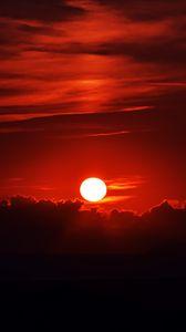 Preview wallpaper sunset, dark, sky, sun, dusk