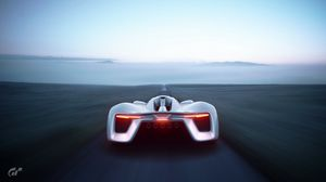 Preview wallpaper supercar, sports car, rear view, speed, horizon