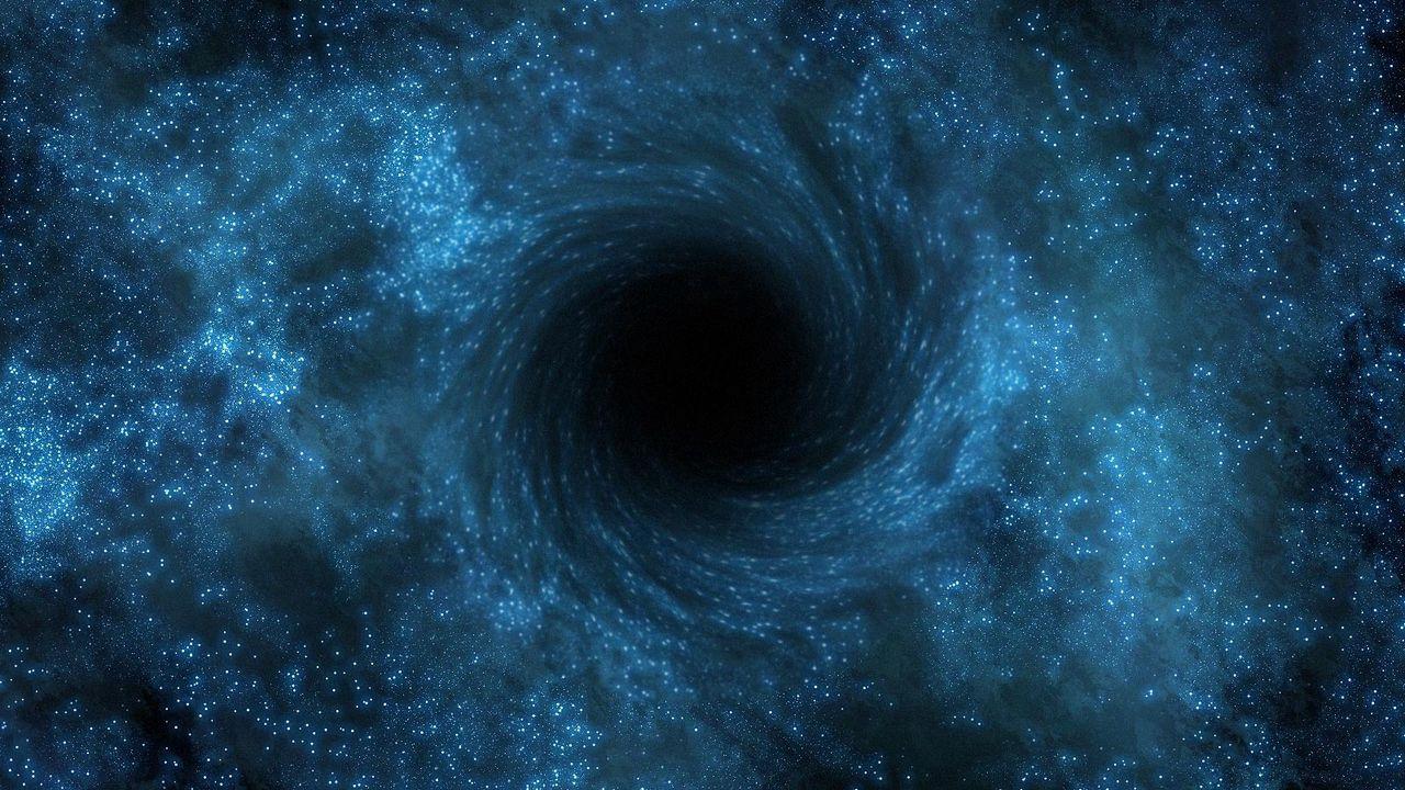 Wallpaper supermassive, black hole, rotation, light