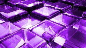 Preview wallpaper surface, blocks, purple, glass