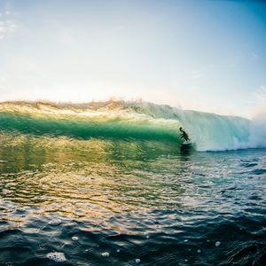 Preview wallpaper surfer, surfing, wave, ocean, sky