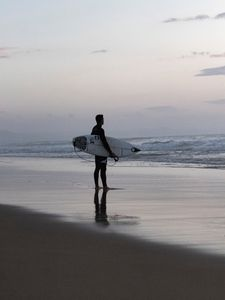 Preview wallpaper surfing, board, waves