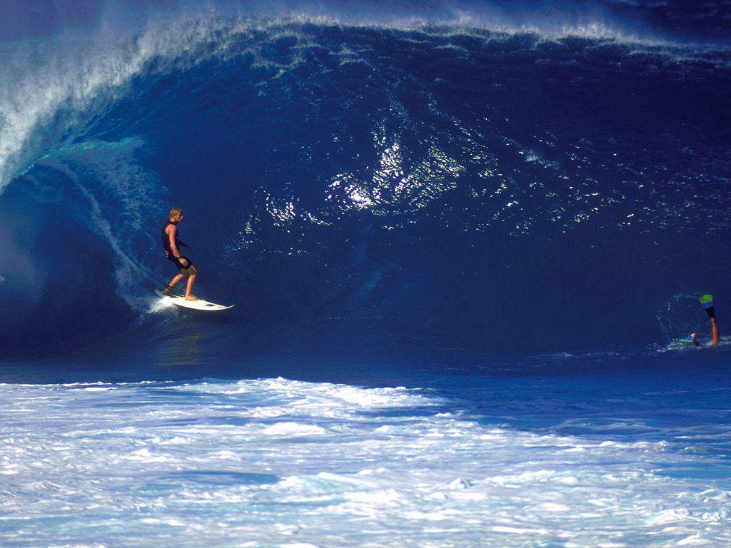 1024x768 Wallpaper surfing, guy, board, wave