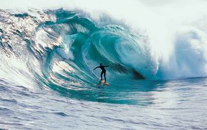 Preview wallpaper surfing, speed, wave, sports