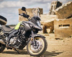 Preview wallpaper suzuki, motorcycle, bike, black, moto