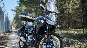 Preview wallpaper suzuki, motorcycle, bike, black, road