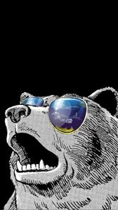 Preview wallpaper swag time, swag, minimalism, bear, art