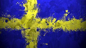 Preview wallpaper sweden, flag, background, spots, texture