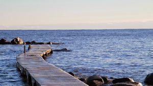 Preview wallpaper sweden, sea, beach, stones