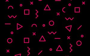 Preview wallpaper symbols, abstraction, pink