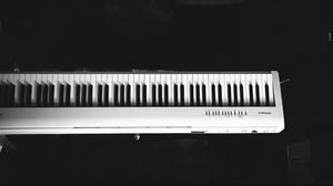 Preview wallpaper synthesizer, keys, music, black and white
