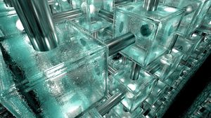 Preview wallpaper system, device, glass, ice, cube, metal