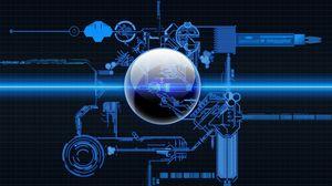Preview wallpaper system, scheme, blue, blueprint