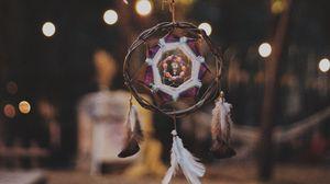 Preview wallpaper dreamcatcher, feathers, decoration, talisman