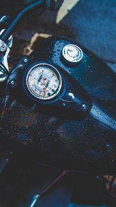 Preview wallpaper tank, motorcycle, drops, speedometer
