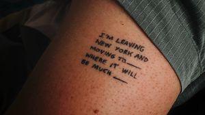 Preview wallpaper tattoo, hand, text, inscription