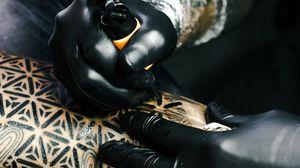 Preview wallpaper tattoo, tattoo master, art, drawing, hands
