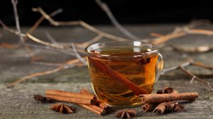 Preview wallpaper tea, cinnamon, cup