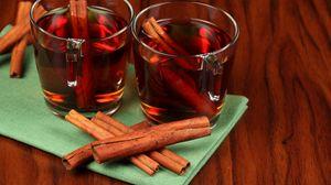 Preview wallpaper tea, cinnamon, tubules, transparent
