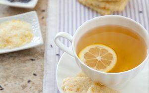 Preview wallpaper tea, cup, lemon, tea party