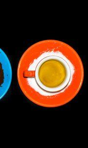 Preview wallpaper tea, cup, orange, bright