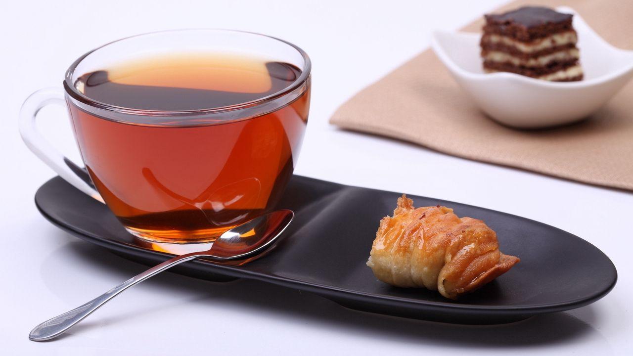 Wallpaper tea, cup, snack