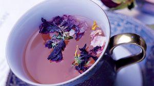 Preview wallpaper tea, drink, flowers, cup