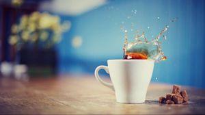 Preview wallpaper tea, splash, drink, cup