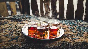 Preview wallpaper tea, tray, steam