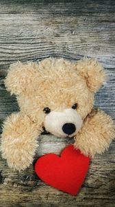 Preview wallpaper teddy bear, heart, valentines day, love