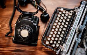 Preview wallpaper telephone, dial, retro, aesthetics
