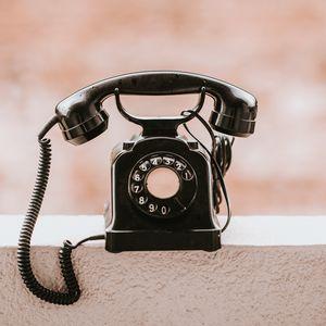 Preview wallpaper telephone, vintage, old, black