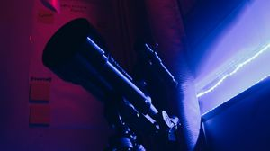Preview wallpaper telescope, device, optics, light, dark