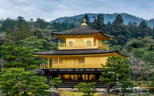 Preview wallpaper temple, pagoda, building, architecture, reflection, japan