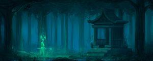 Preview wallpaper temple, pagoda, building, fantasy, art