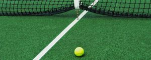 Preview wallpaper tennis, court, net, ball, sport