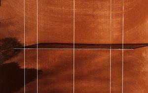 Preview wallpaper tennis court, tennis, court, marking, aerial view