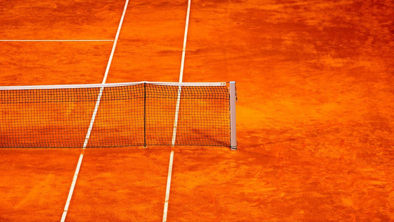 Wallpaper tennis, net, court, orange