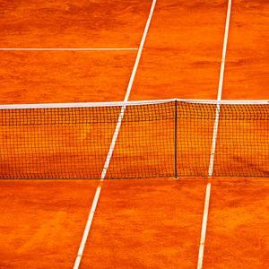 Preview wallpaper tennis, net, court, orange