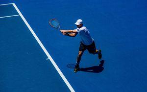 Preview wallpaper tennis player, tennis, court, racket