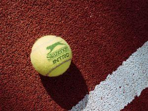 Preview wallpaper tennis, tennis ball, ball, court, markup