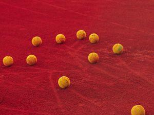 Preview wallpaper tennis, tennis balls, balls, court